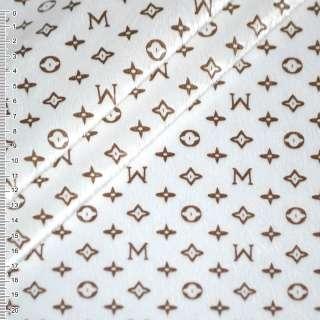 мех белый к/в в буквы и звезды (штамп) ш.160 оптом
