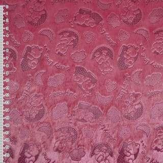"""Мех искусственный коротковорсовый ярко-розовый """"Sleepy time"""" ш.160 оптом"""