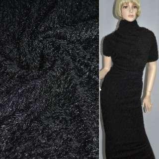Мех вязан. черный ш.160 оптом