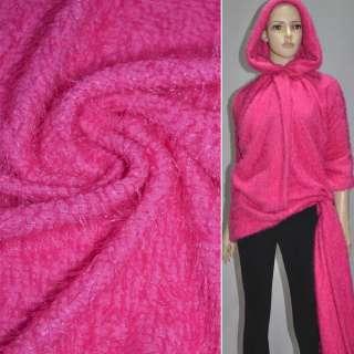 Мех вязан. ярко-розовый ш.163 оптом