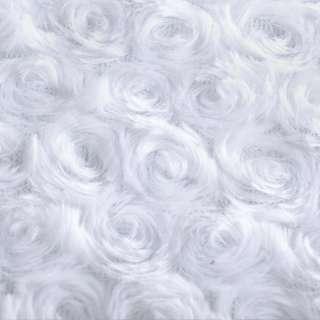 """мех искусств. белый """"розочки""""  ш.160 оптом"""