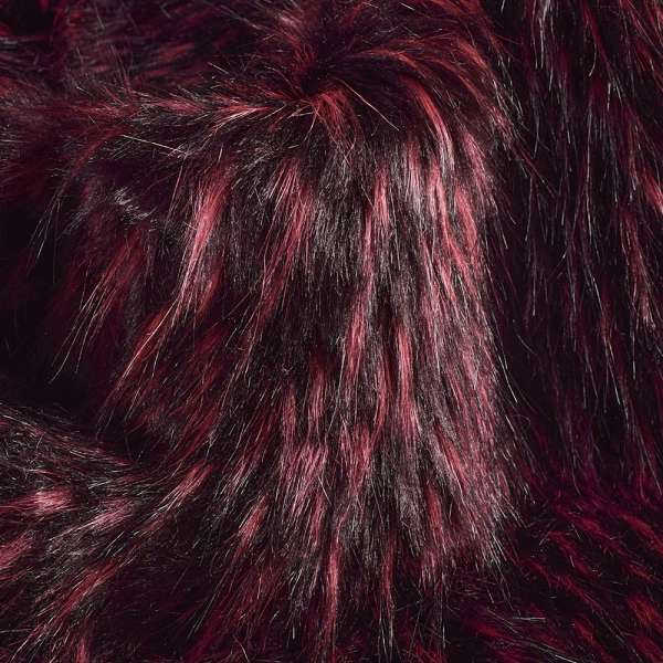 """Мех иск.""""Fellimitat""""енот вишнево черный,ворс-60мм,ш.167 оптом"""