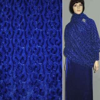 мех иск. сине- черный блестящий, ш.150 оптом