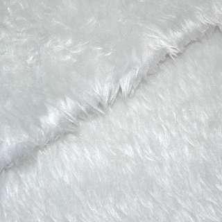 Мех искусственный средневорсовый белый с серым оттенком, ш.150 оптом