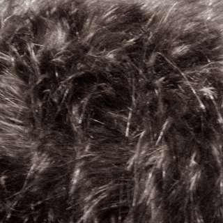 Мех искусственный коричневый оптом
