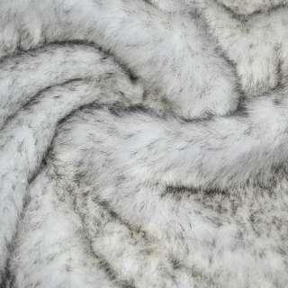 мех иск. д/в белый с черными ворсинками, ш.150 оптом
