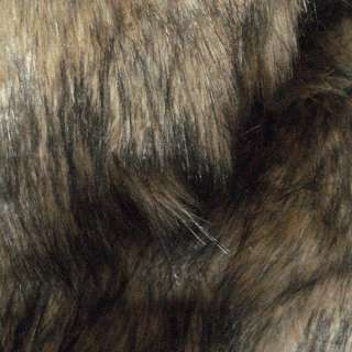 Мех искусственный длинноворсовый бежево-серый с черным, ш.150 оптом