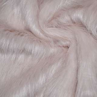 Мех искусственный длинноворсовый бледно-розовый ш.170 оптом