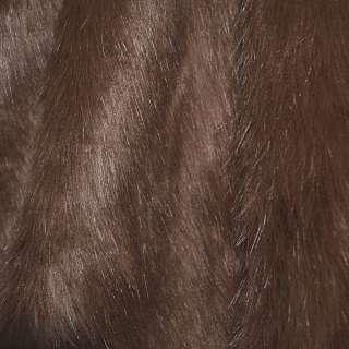 Мех искусственный длинноворсовый терракотовый ш.170 оптом
