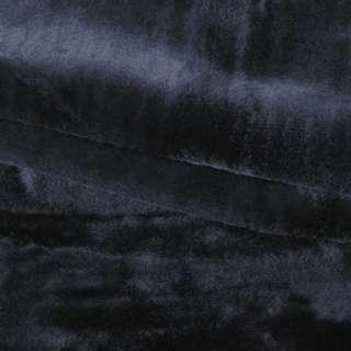 мех искусств. средне-ворсный черный (мутон) ш.180 оптом
