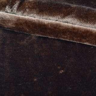 мех искуст. средне-ворсный коричневый (мутон) ш.172 оптом