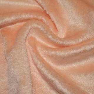 мех иск. персиковый однотонный, ш.150 оптом