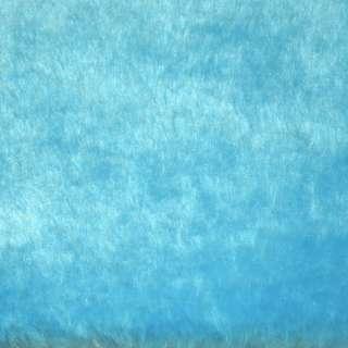 Мех искусственный голубой ш.164 оптом