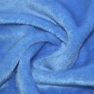 Мех искусственный голубой коротковорсовый ш.160 оптом