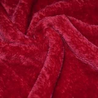 Мех искусственный красный коротковорсовый ш.160 оптом