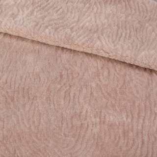 Мех мутон с тиснением розово-бежевый, ш.160 оптом