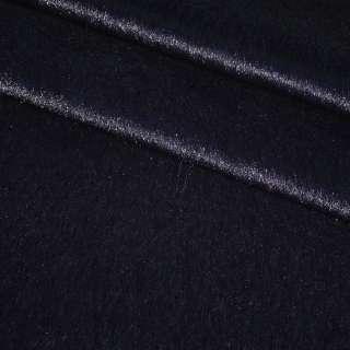 Хутро штучне коротковорсове темно-синє ш150 оптом