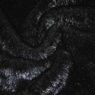 Хутро штучне середньоворсове чорне ш.170 оптом