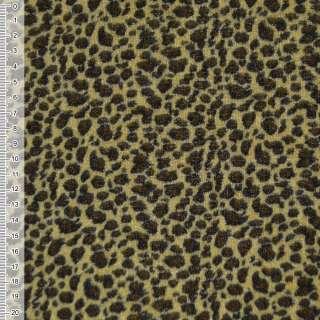 Велюр желто-черный принт леопард ш.150 оптом