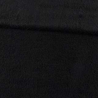 Мех искусственный овчина тонкий черный ш.175 оптом