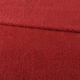 Мех искусственный овчина тонкий красный ш.175 оптом