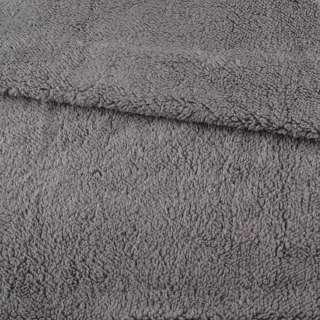 Хутро штучне овчина тонке сіре ш.175 оптом