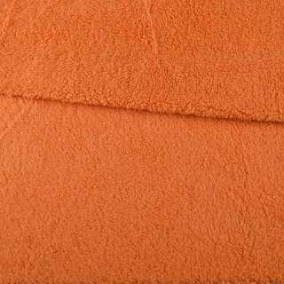 Мех искусственный овчина тонкий оранжевый ш.175 оптом