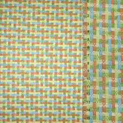 Рогожка из целлюлозы на флизелине с цветным переплетением: зелено- оранжево-голубая, ш.150 оптом