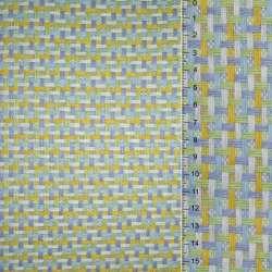 Рогожка из целлюлозы на флизелине с цветным переплетением: салатово-желто- бело-серая, ш.150 оптом