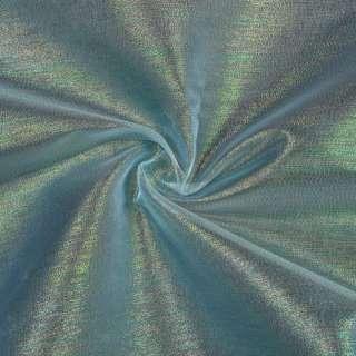 Органза голубая в разноцветные метанити, ш.150 оптом