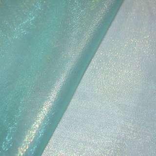 органза голубая с золот. люрексом ш.150 оптом
