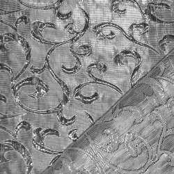 парча жаккардовая, срібляста шир. 150 см. оптом