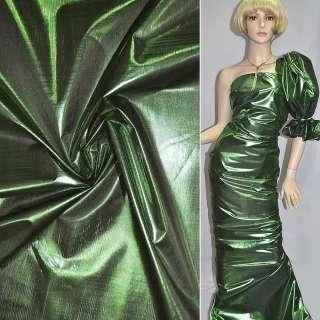 парча темно-зеленая гладкая, ш.150 оптом