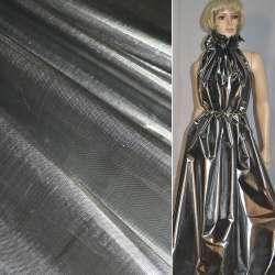парча сріблясто-чорна гладка ш.150 оптом