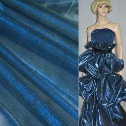 Парча сине-черная гладкая ш.150