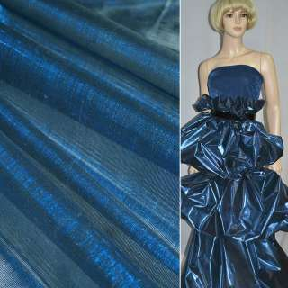 парча сине-черная гладкая ш.150 оптом