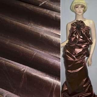 парча коричнево-бордовая гладкая ш.150 оптом