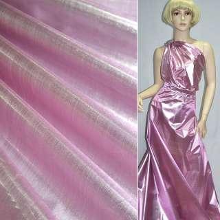 парча розово-серебрист. гладкая ш.150 оптом