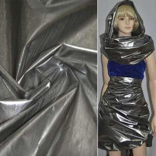 парча сріблясто-чорна гладка ш.150 см. оптом