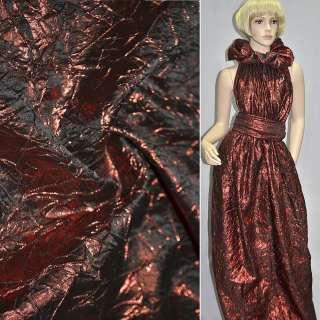 парча жатая темно-красная, ш.130 см оптом