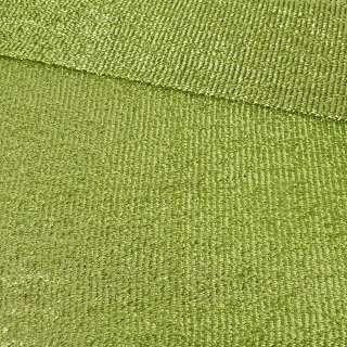 Мерехтливий трикотаж з м'якої мішури салатовий, ш.155 оптом