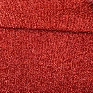 Мерехтливий трикотаж з м'якої мішури червоний, ш.155 оптом