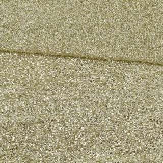 Мерехтливий трикотаж з м'якої мішури світле золото, ш.155 оптом
