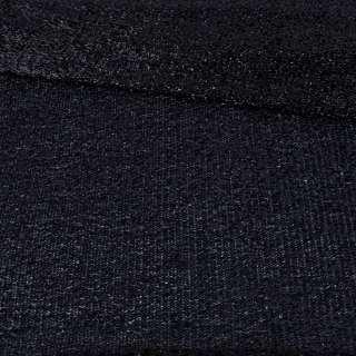 Мерехтливий трикотаж з м'якої мішури чорний, ш.155 оптом