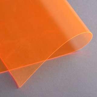 Силикон (0,5мм) оранжевый неоновый прозрачный ш.122 оптом