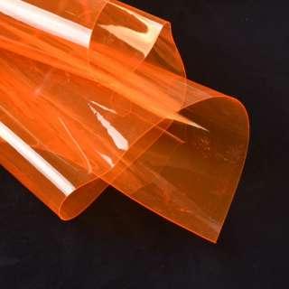 Силикон (0,3мм) оранжевый неон прозрачный ш.122 оптом