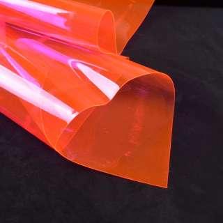 Силикон (0,3мм) розовый неон прозрачный ш.122 оптом