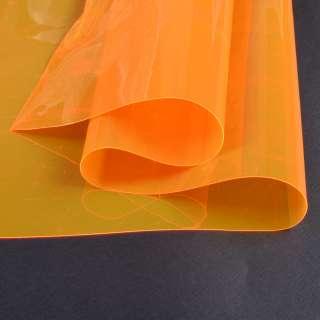 Силикон (0,2мм) оранжевый неоновый прозрачный ш.122 оптом
