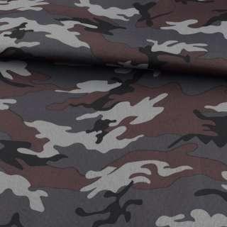ПВХ ткань оксфорд 600D камуфляж серо-черный ш.150 оптом