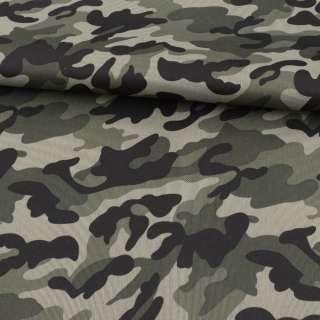 ПВХ ткань оксфорд 600D камуфляж оливково-черный ш.150 оптом